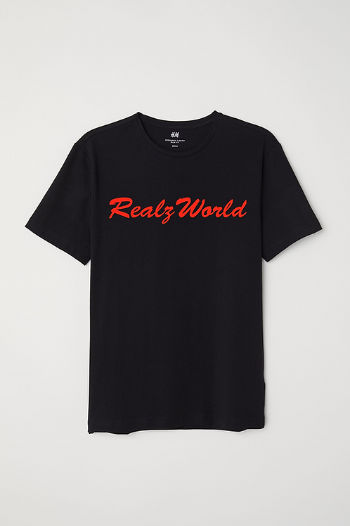 Realz World Black & Red Tee