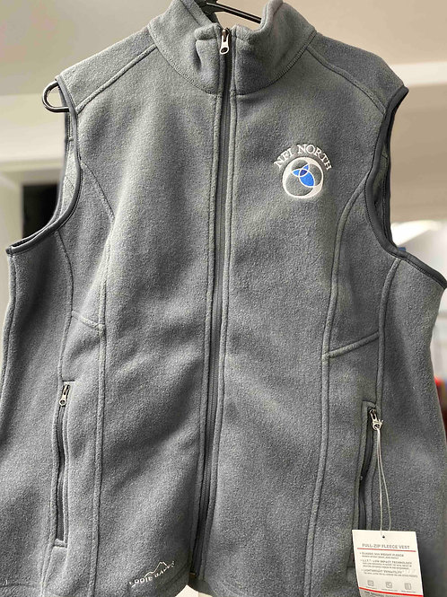 Woman's light gray fleece vest