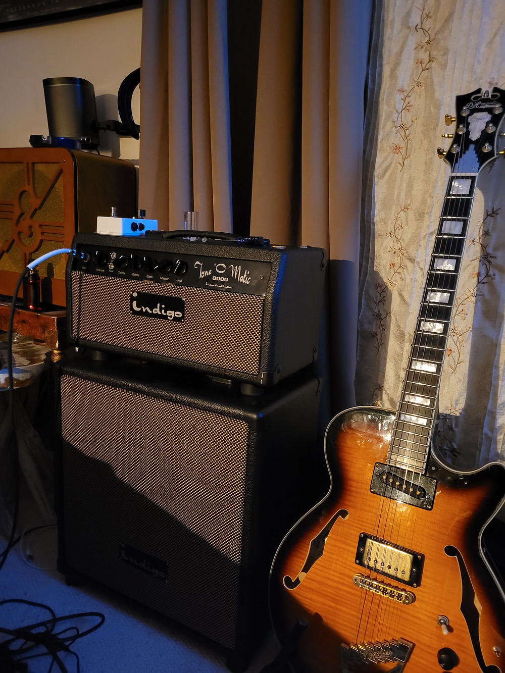 Indigo Amplification Tone-O-Matic 3000 and a D'angelico EXSS Excel
