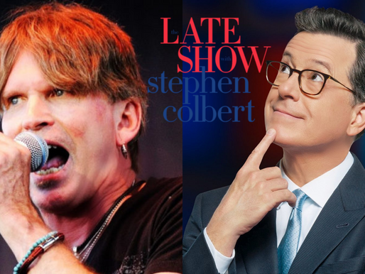 """The Voice Of """"Eye of the Tiger"""" Dave Bickler Hits The Late Show With Stephen Colbert"""