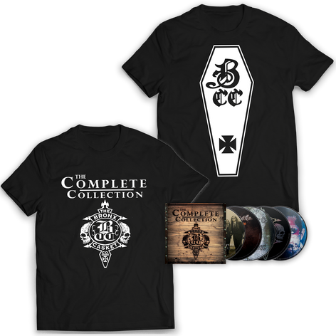 """THE BRONX CASKET CO. """"The Complete Collection"""" CD Boxset and T-Shirt Bundle"""