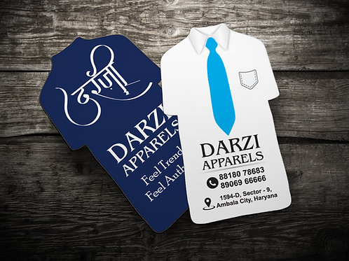 T Shirt Shape Die Cut Visiting Card