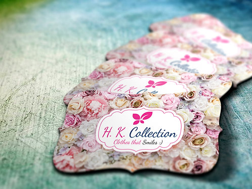 Floral Die Cut Visiting Card