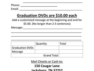 2016 Graduation DVD Order Form