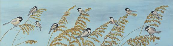 Chickadees on Seaoats