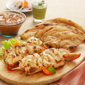 chicken malai tikka and roti.jpg