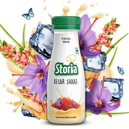 Food Styling & Photography for Packaging - Storia Milkshakes