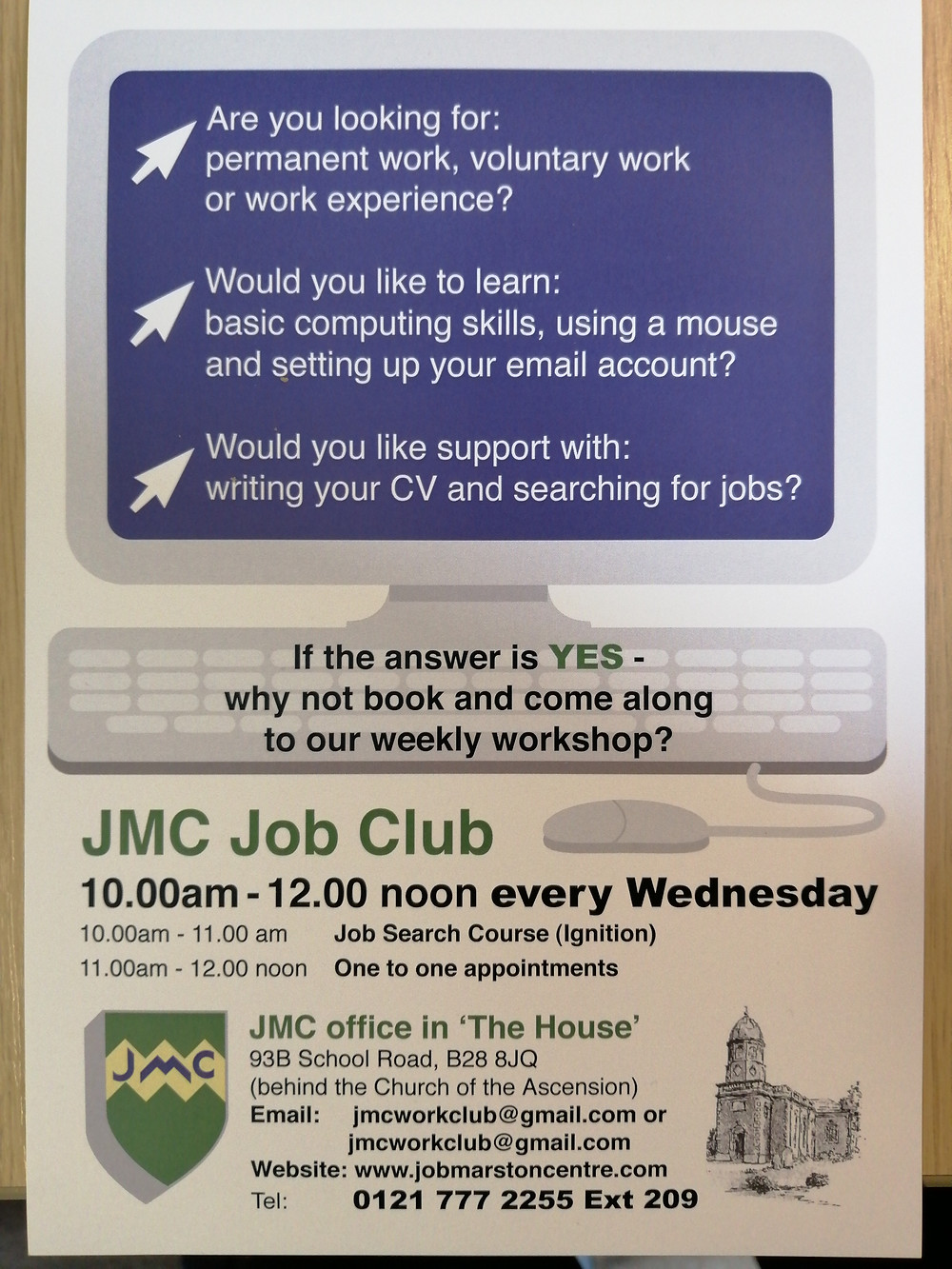 New Job Search Course flyer