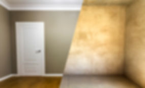 Comparison of a room in an apartment before and after renovation. New house..jpg