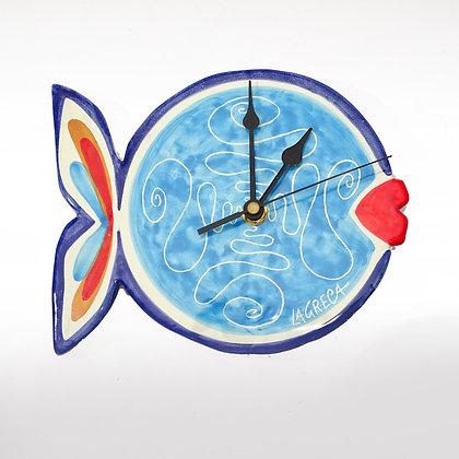 """PI003 - Orologio da muro Figurine, Collezione """"Adorabili"""" Pesce"""