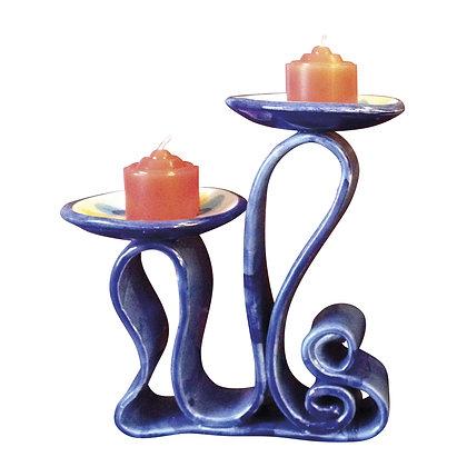 """Porta candela collezione """"I nastri"""" Le onde"""