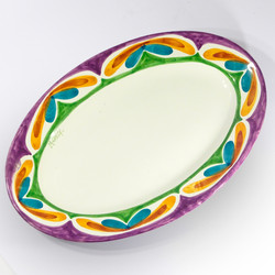 Floral serving dish A (top view)