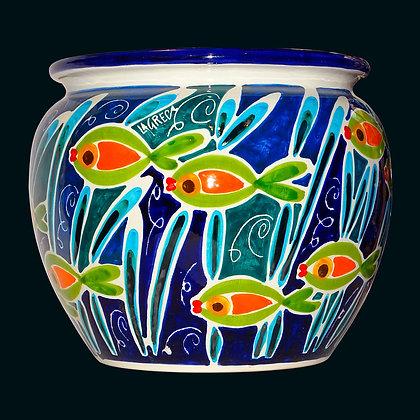 """VA036 - Cachepot Palla, Collezione """"Banco di pesci"""""""