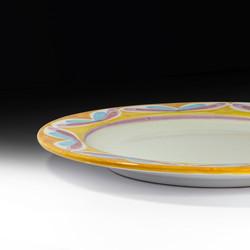 round serving platter (detail view)