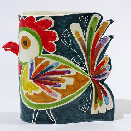 """VA016 - Portafiori Goccia """"Il gallo"""""""