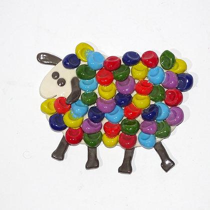 """FE001 - Collezione """"bottoni """"Il gregge"""" multicolor"""