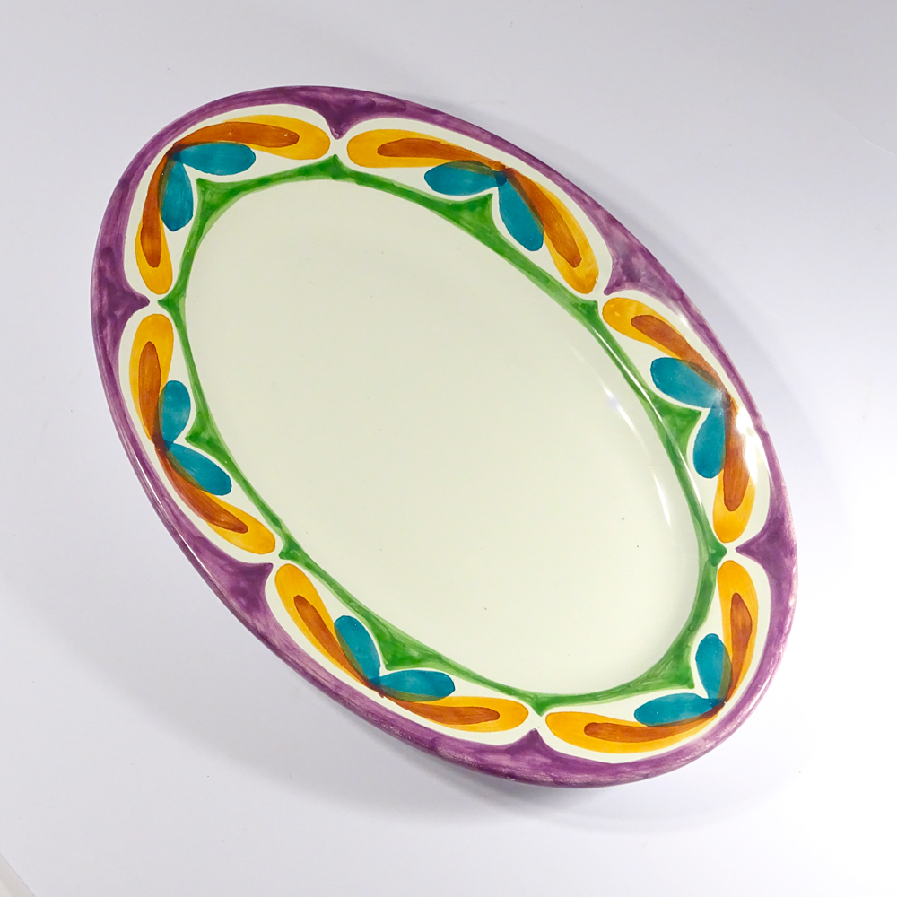 Floral, dish M (top view)