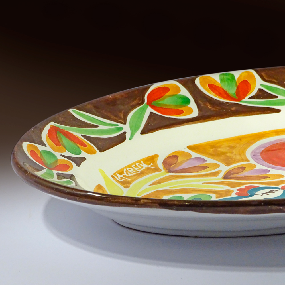 Red moon serving dish  (detail view)