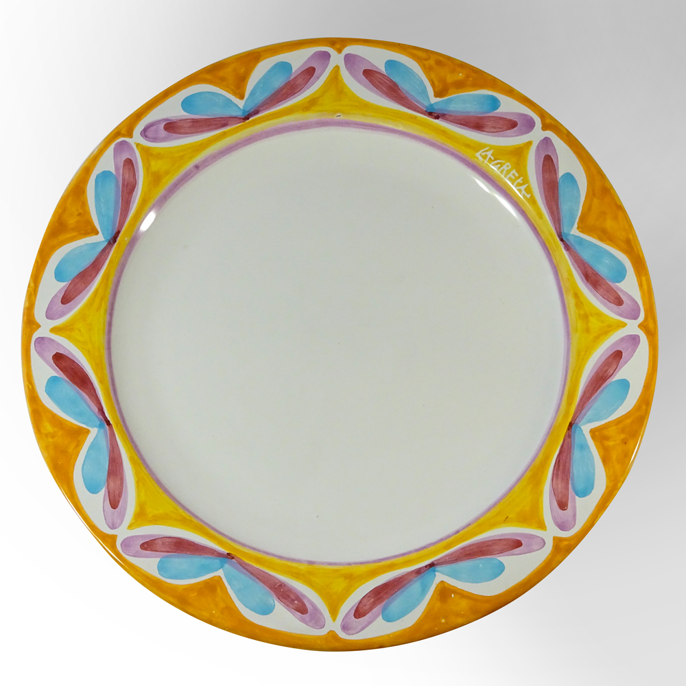 round serving platter (top view)