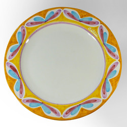 round serving platter (top view)