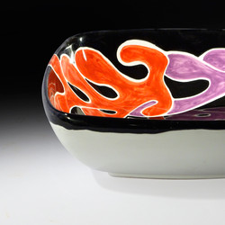 Coral, square bowl, size one