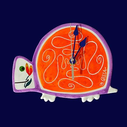 """PI005 - Orologio da muro Figurine Collezione """"Adorabili"""" Tartaruga"""