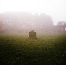 Misty morning on location
