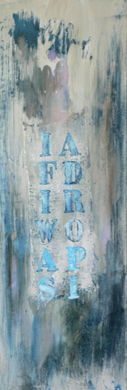"""""""If I was a drop""""    40x98    sold"""