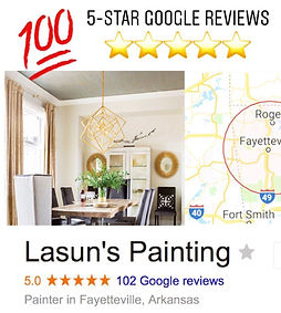 Over 100 5-star Google reviews! Bentonville residential painting Company