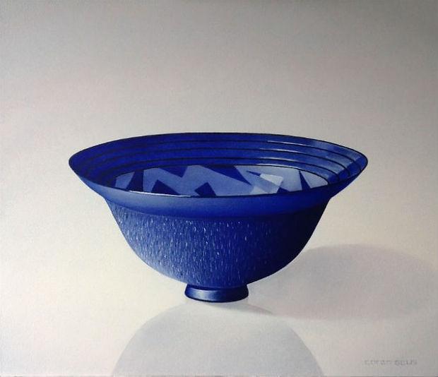 Kobaltblauwe schaal