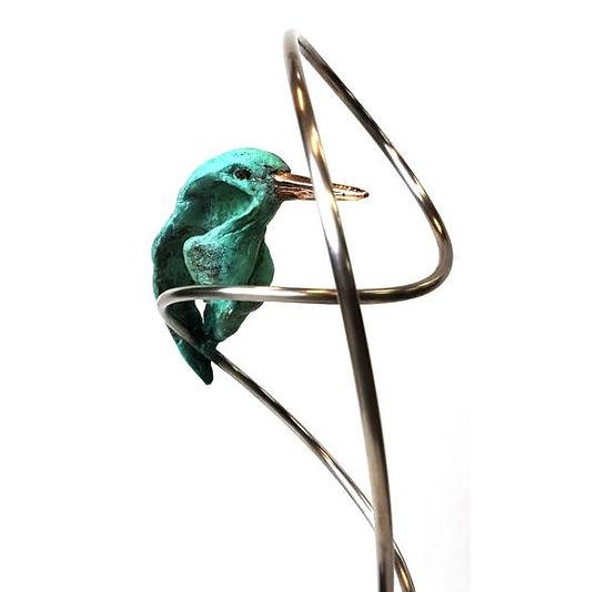 Bronze openwork kingfisher