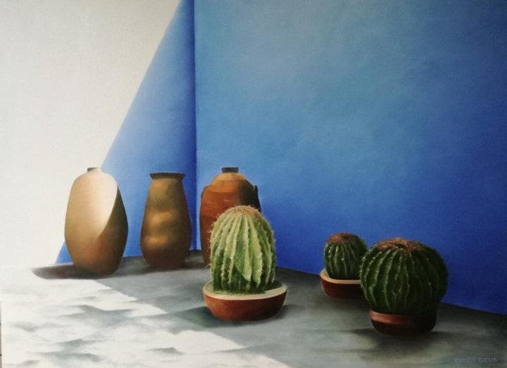 Mexicaanse villa  blauw