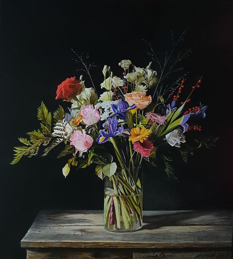 Kleurrijk bloemstilleven