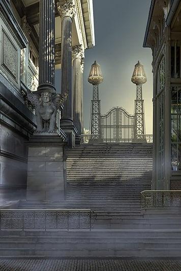 Achter de trappen