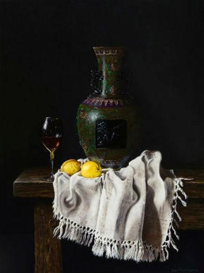 Still life with Cloisonne vase