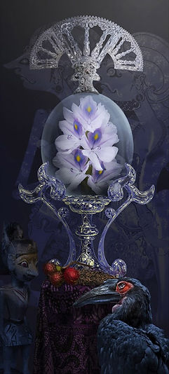 Indisch bloemenreliek