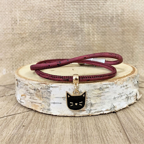 Bracelet en liège Nina Petit Chat