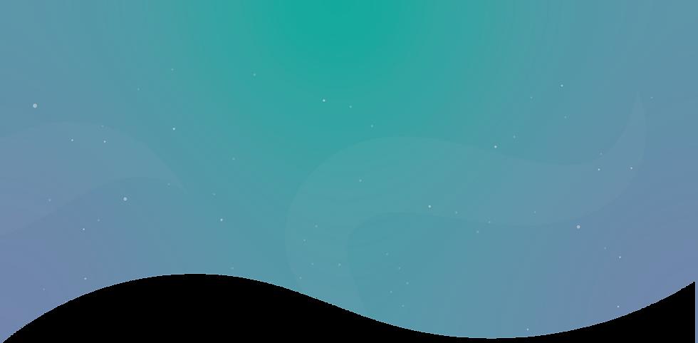 Fond de homepage dégradé avec vague et étoiles