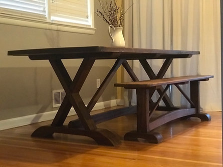 Tara Trestle Table with Bench -  Starting At