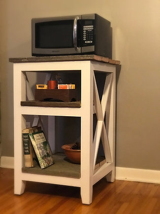 Farmhouse Style Microwave Stand - Starting At