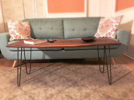 Live Edge Walnut Table with Hairpin Legs - Starting At