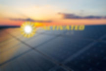 Sunset rays over a photovoltaic power pl