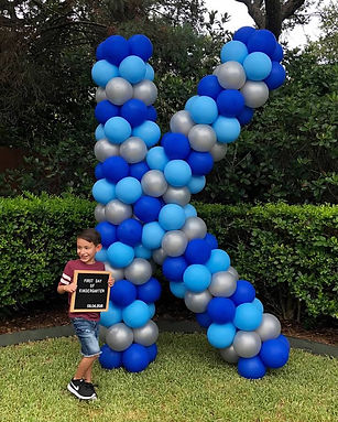 blue yard balloon k for first day of kindergarten