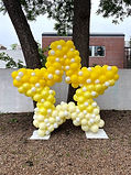yellow balloon star decoration