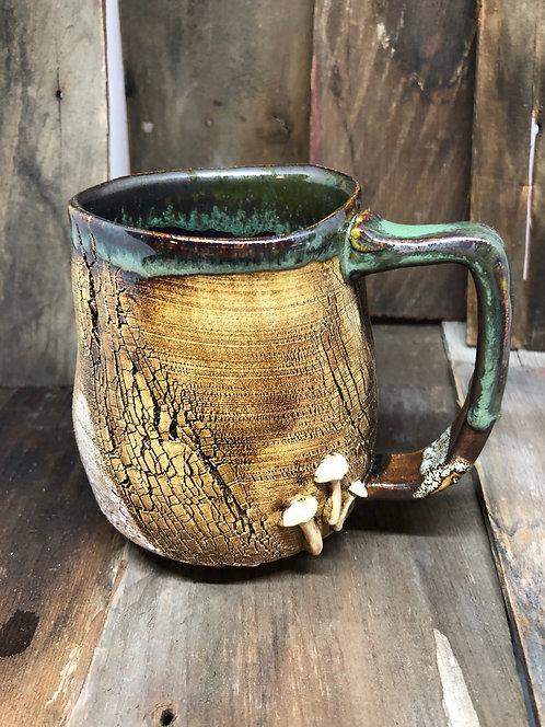 Mushroom bark mug