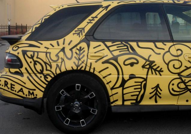 Black & Yellow Subaru, Novosibirsk, Russia