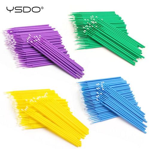 100 PCS Disposable Cotton Swab Eyelash Extension Tools