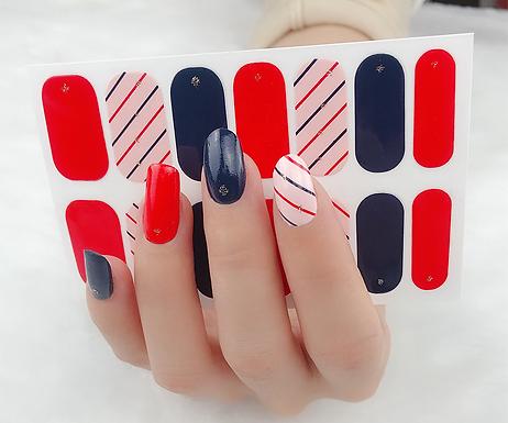 Fun Stripe Gel Nail Wraps