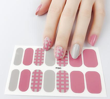 Honey Pink Gel Nail Wraps
