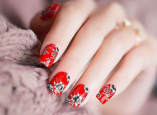 Oh Red Nail Wraps